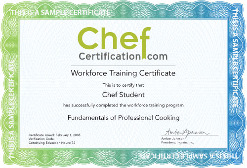 Workforce Certificate Sample